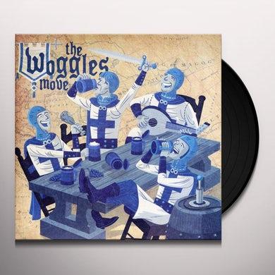 The Woggles MOVE/A WASTE ON THE YOUNG Vinyl Record