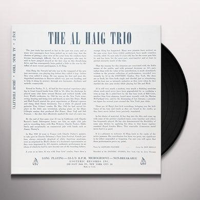 Al Haig Trio JAZZ WILL O THE WISP Vinyl Record