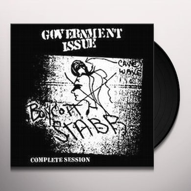 Government Issue BOYCOTT STABB COMPLETE SESSION Vinyl Record