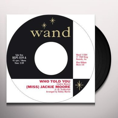 Jackie Moore WHO TOLD YOU / SAME CHANGE Vinyl Record