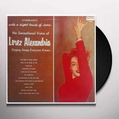 Lorez Alexandria STANDARDS WITH A SLIGHT TOUCH OF JAZZ Vinyl Record