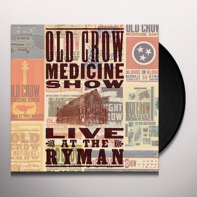 Old Crow Medicine Show LIVE AT THE RYMAN Vinyl Record