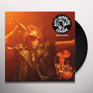Anti-Nowhere League BEST OF LIVE Vinyl Record