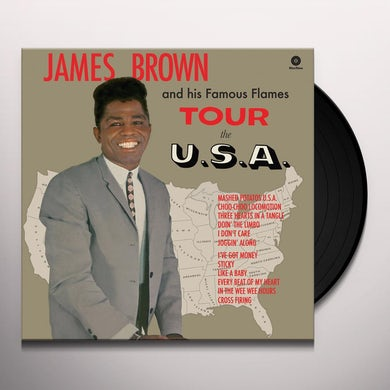 James Brown TOUR THE U.S.A Vinyl Record - Spain Release