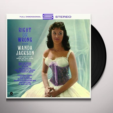 Wanda Jackson RIGHT OR WRONG Vinyl Record - Spain Release