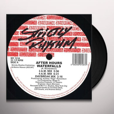 After Hours WATERFALLS Vinyl Record