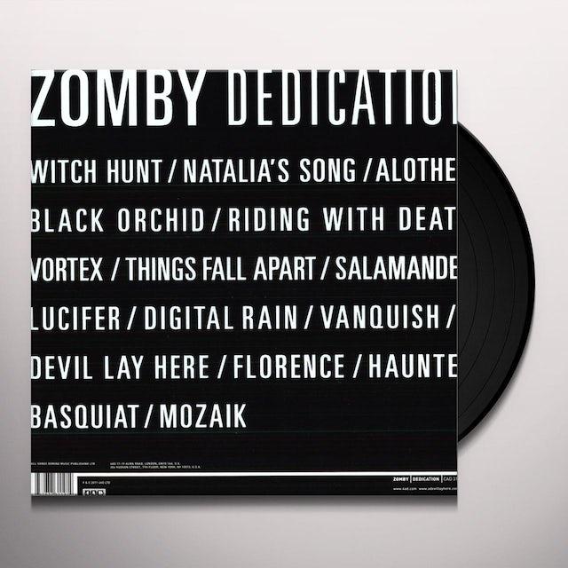 Zomby DEDICATION Vinyl Record