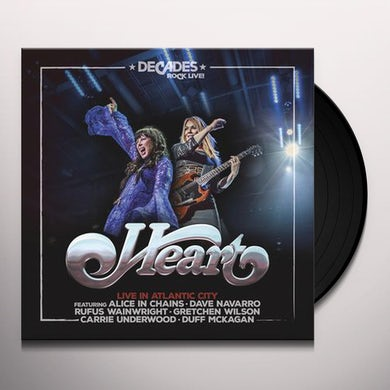 Heart LIVE IN ATLANTIC CITY Vinyl Record