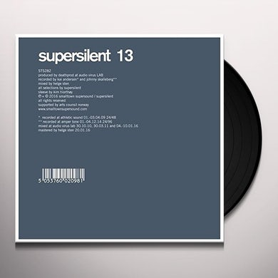Supersilent 13 Vinyl Record