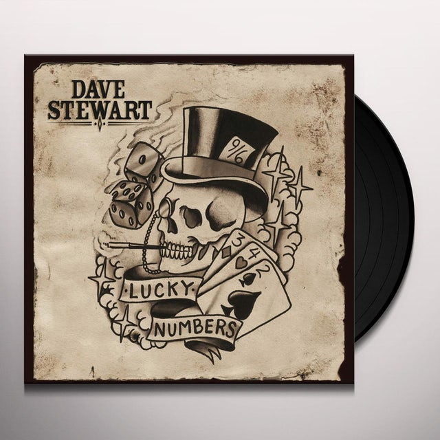 Dave Stewart LUCKY NUMBERS Vinyl Record