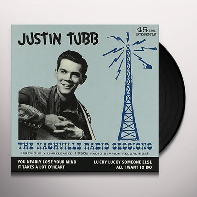 Justin Tubb NASHVILLE RADIO SESSIONS Vinyl Record