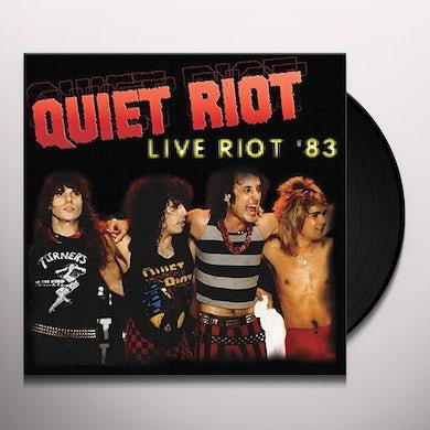 Quiet Riot LIVE RIOT 83 Vinyl Record