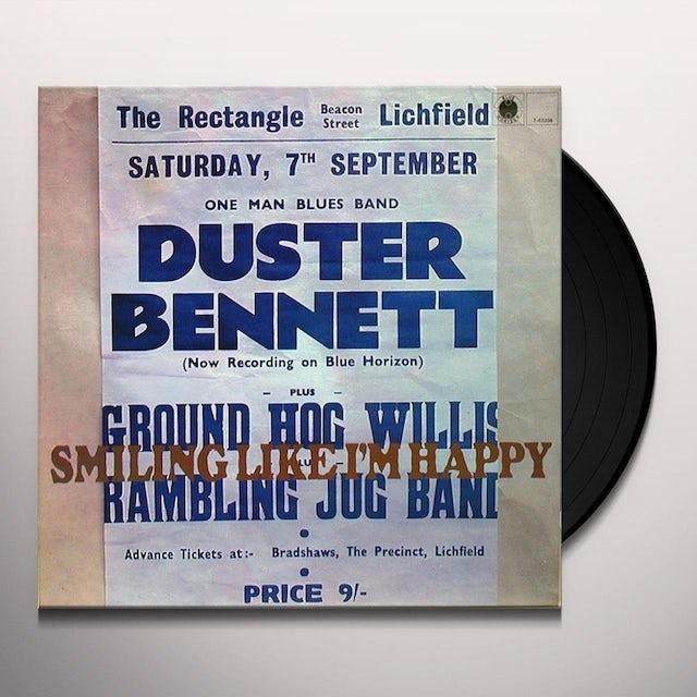 Duster Bennett SMILING LIKE I'M HAPPY Vinyl Record