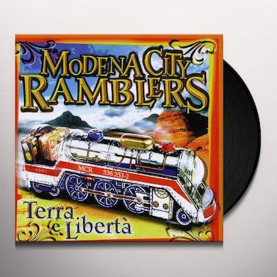 Modena City Ramblers TERRA E LIBERTA Vinyl Record