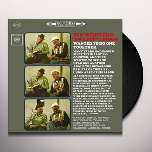 Ben Webster & Sweets Edison Vinyl Record