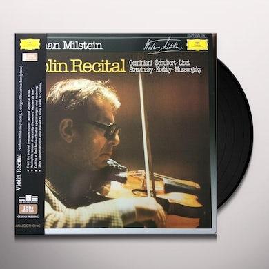 Nathan Milstein VIOLIN RECITAL Vinyl Record