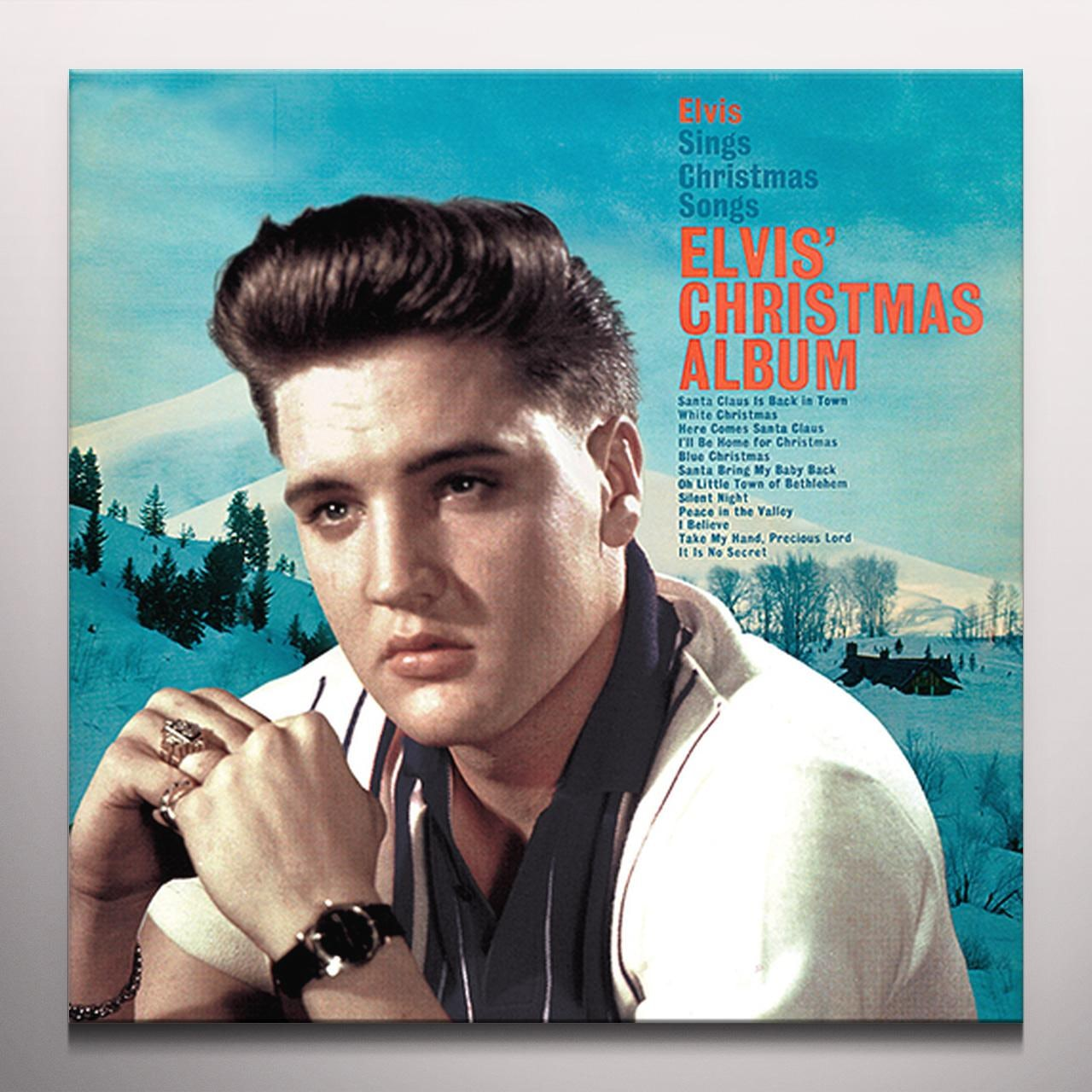 Elvis Christmas Album.Elvis Christmas Album Vinyl Record Limited Edition 180 Gram Pressing White Vinyl