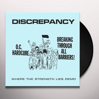Discrepancy WHERE THE STRENGTH LIES DEMO Vinyl Record