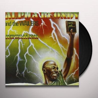 Alpha Blondy JERUSALEM Vinyl Record