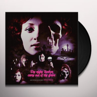 Bruno Nicolai NIGHT EVELYN CAME OUT OF THE GRAVE /O.S.T. Vinyl Record - Blue Vinyl