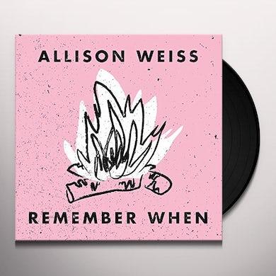 Allison Weiss REMEMBER WHEN Vinyl Record