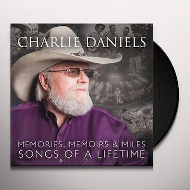 Charlie Daniels MEMORIES MEMOIRS & MILES: SONGS OF A LIFETIME Vinyl Record