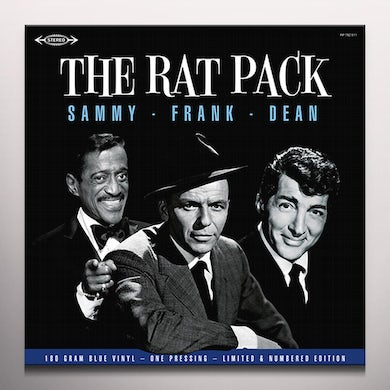 33 TOURS THE RAT PACK Vinyl Record - Blue Vinyl, Limited Edition, 180 Gram Pressing