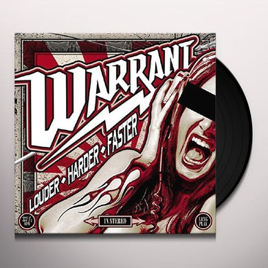 Warrant LOUDER HARDER FASTER (RED VINYL) Vinyl Record