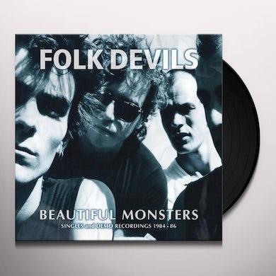 FOLK DEVILS BEAUTIFUL MONSTERS: SINGLES & DEMO RECORDINGS 1984 Vinyl Record