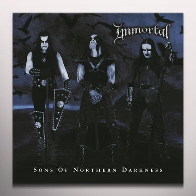 Immortal SONS OF NORTHERN DARKNESS - Limited Edition Black & Blue Colored Vinyl Record