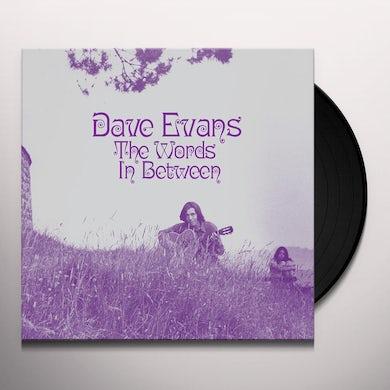 Dave Evans THE WORDS IN BETWEEN Vinyl Record