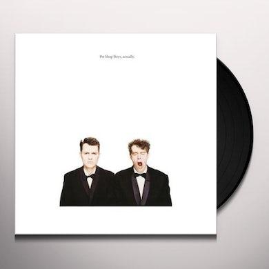 Pet Shop Boys ACTUALLY (2018 REMASTERED VERSION) Vinyl Record