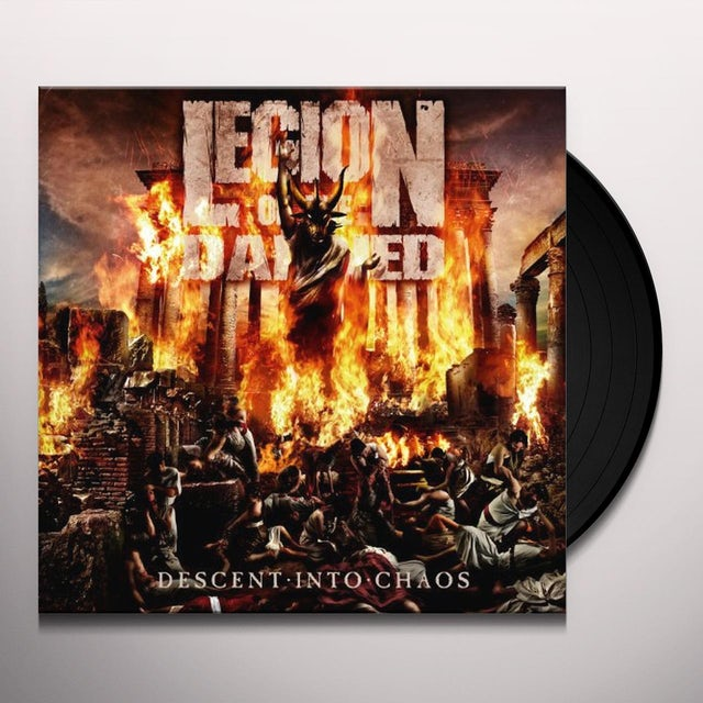 Legion Of The Damned DESCENT INTO CHAOS Vinyl Record