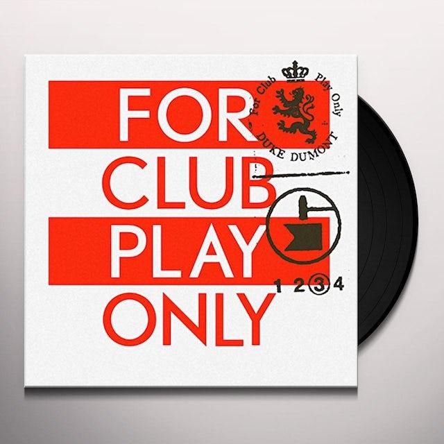 Duke Dumont FOR CLUB PLAY ONLY 3 Vinyl Record