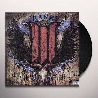 Hank Williams Iii DAMN RIGHT REBEL PROUD Vinyl Record