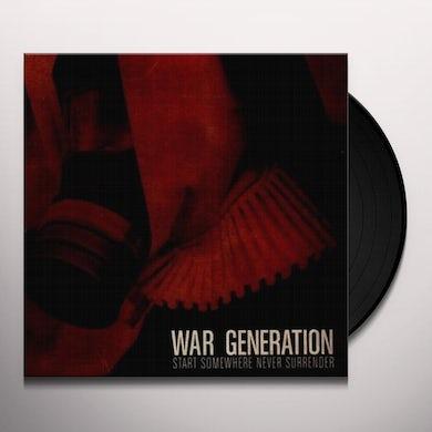War Generation START SOMEWHERE Vinyl Record