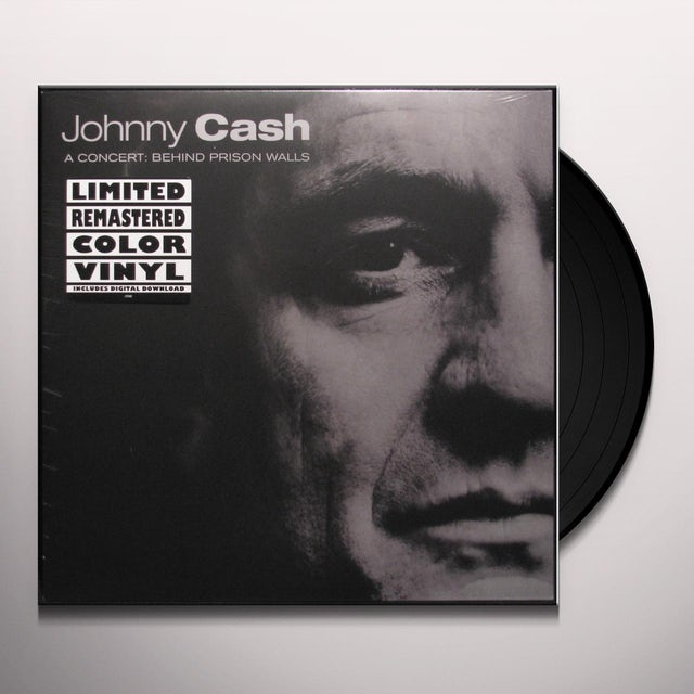 Johnny Cash CONCERT BEHIND PRISON WALLS Vinyl Record