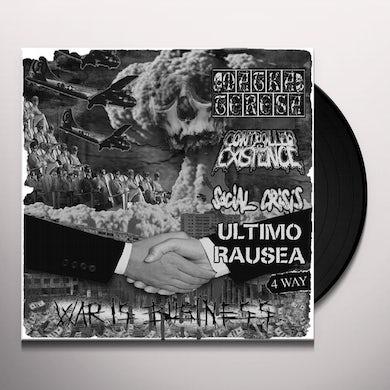 SOCIAL CRISIS/ ULTIM RAUSEA / MATA TERESA/ CONTROL WAR IS BUSINESS - 4 WAY SPLIT Vinyl Record