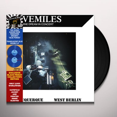 Tangerine Dream LIVEMILES Vinyl Record