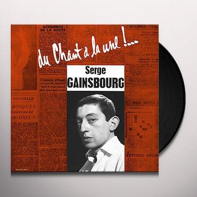 Serge Gainsbourg DU CHANT A LA UNE Vinyl Record