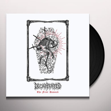 Decapitated FIRST DAMNED (RED & BLACK SPLATTER) Vinyl Record