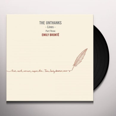 THE UNTHANKS LINES PART THREE: EMILY BRONTE Vinyl Record