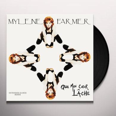 Mylène Farmer QUE MON COEUR LACHE Vinyl Record