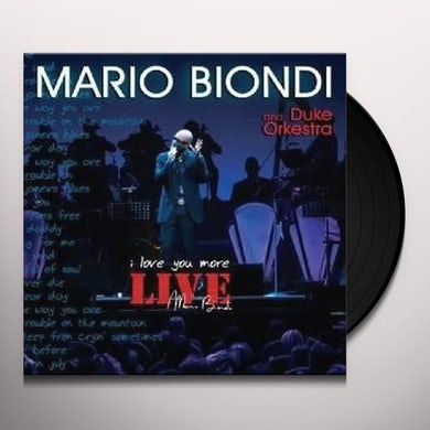 Mario Biondi LIVE I LOVE YOU MORE (W/DVD) Vinyl Record - Italy Release