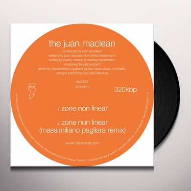 The Juan McLean WHAT DO YOU FEEL FREE ABOUT? / ZONE NONLINEAR Vinyl Record