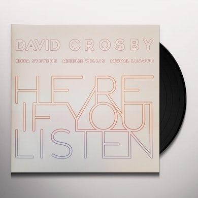 David Crosby HERE IF YOU LISTEN Vinyl Record