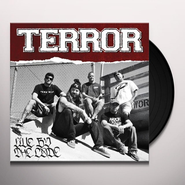 Terror LIVE BY THE CODE Vinyl Record