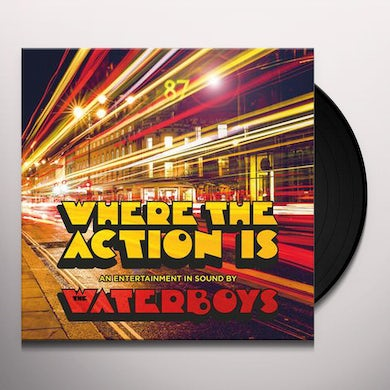 The Waterboys Where The Action Is Vinyl Record
