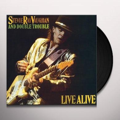 Stevie Ray Vaughan LIVE ALIVE Vinyl Record