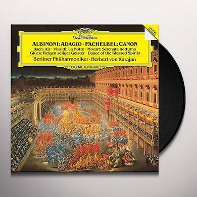 KARAJAN / BERLINER PHILHARMONIKER ALBINONI / ADAGIO / PACHELBEL / CANON / BACH Vinyl Record